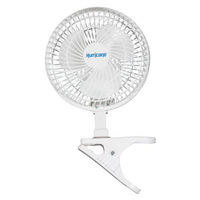 Hurricane Classic Series Clip Mount Fan - 6 in. Diameter - 2 Speed Setting - 120 Volts - 0.5 Amps - Includes 5 ft. Power Cord