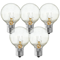 7 Watt - Miniature G40 Globes - Diameter 1.5 in. - 4,000 Life Hours - Intermediate Base - 130 Volt - 25 Pack