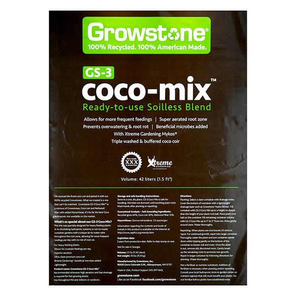1.5 Cu.Ft - Growstone GS-3 Coco Mix Bag Image