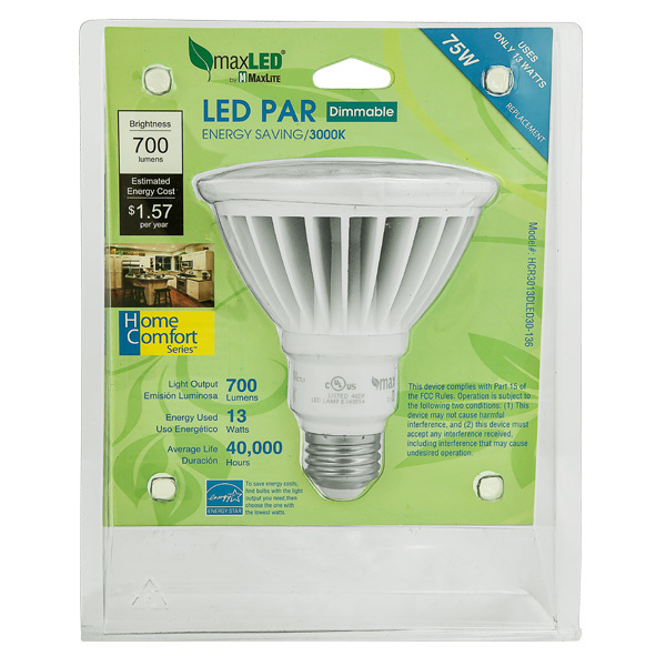 LED - PAR30 - 13 Watt - Long Neck - 75W Equal Image