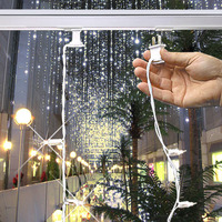 (35) Bulbs - (1) Curtain Strand - Clear Mini Lights - 12 ft. Length - 4 in. Bulb Spacing - White Wire - Light Bar Sold Separately