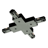 Black - X-Connector - Left Hand Polarity - Dual Circuit - Compatible with Halo Track - Nora NT-2315B/L