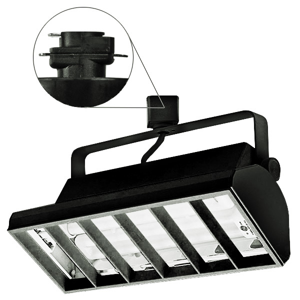 Nora NTF-3218B -  Compact Fluorescent Track Fixture  - Black Image