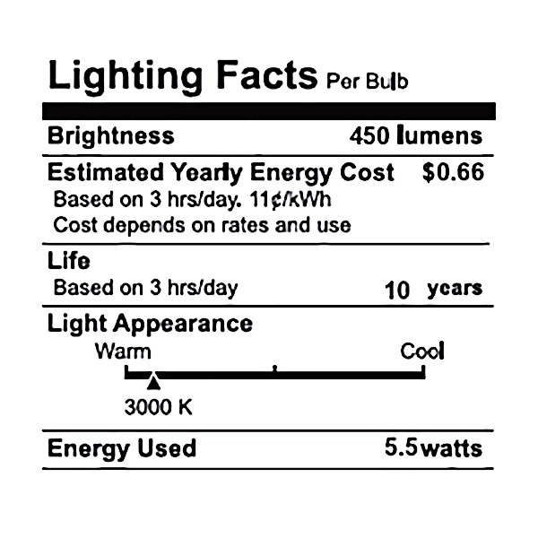 LED - 5.5 Watt - A19 - 40 Watt Equal  Image