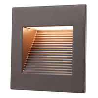 Inner Square Step Light - LED - 1 Watt - Dark Bronze Finish - 3000 Kelvin - Halogen White - 120 Volt - American Lighting SQ-1-DB