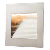 Inner Square Step Light - LED - 1 Watt - Stainless Steel Finish - 3000 Kelvin - Halogen White - 120 Volt - American Lighting SQ-1-SS