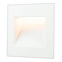 Inner Square Step Light - LED - 1 Watt - White Finish - 3000 Kelvin - Halogen White - 120 Volt - American Lighting SQ-1-WH