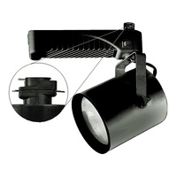 Nora NTM-6138/70B - Black - Flat Back Cylinder - Operates 70 Watt PAR38 Metal Halide - Compatible with Halo Track - Built-In Electronic Ballast