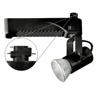 Nora NTM-6420/35B - Black - Lamp Holder and Gimbal - Operates 39 Watt PAR20 Metal Halide - Compatible with Halo Track - Built-In Electronic Ballast