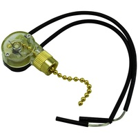 Pull Chain - On/Off Canopy Switch - Polished Brass - 6 Amp - 125 Volt