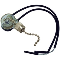 Pull Chain - On/Off Canopy Switch - Nickel - 6 Amp - 125 Volt - PLT 55-0318-20
