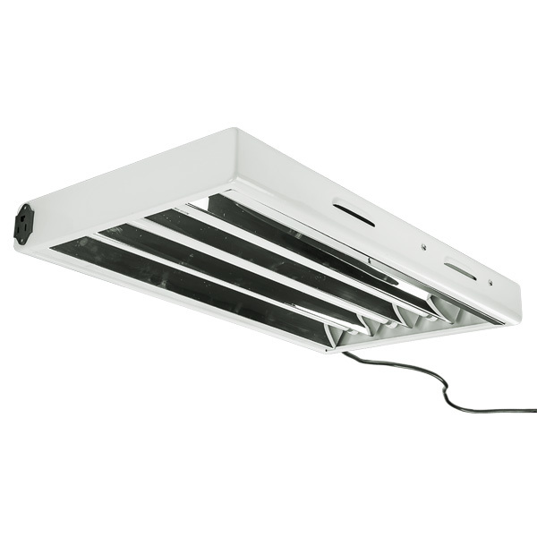 2 ft. - 4 Lamp - F24T5 - Fluorescent Grow Light Fixture  Image