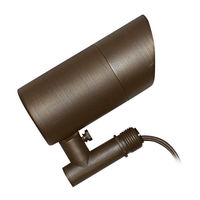 5.5 Watt - LED - Specifier Accent Landscape Light - Solid Brass - Bronze Finish - 3000K - 40 Deg. Beam Angle - 9-15 Volt - GreenScape FL-501B-LED-MR16-5.5