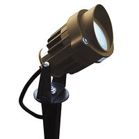 5 Watt - LED - Bullet Light Fixture with Ground Stake - Die Cast Aluminum - Bronze Finish - 20W Halogen Equal - 3000K - 9-15 Volt - GreenScape LED-BL-5-12