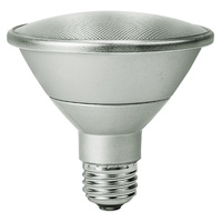 LED - Silver PAR30 - 13 Watt - Short Neck - 50W Equal - 60 Deg. Wide Flood - 3000 Kelvin - Halogen White