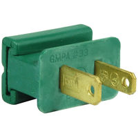 Green - Male Gilbert Replacement Plug for Commercial Christmas Lights - SPT-2 Rated