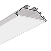 6.56 ft. - Double Anodized Aluminum - KOPRO Extrusion - For LED Tape Light and Strip Light - Klus B6367ANODAL