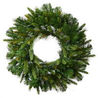 8 ft. Christmas Wreath - 1480 Realistic Molded Tips - Cashmere Pine - Unlit - Vickerman A118390
