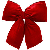 24 in. Red Velvet Structured Bow - Vickerman L696327