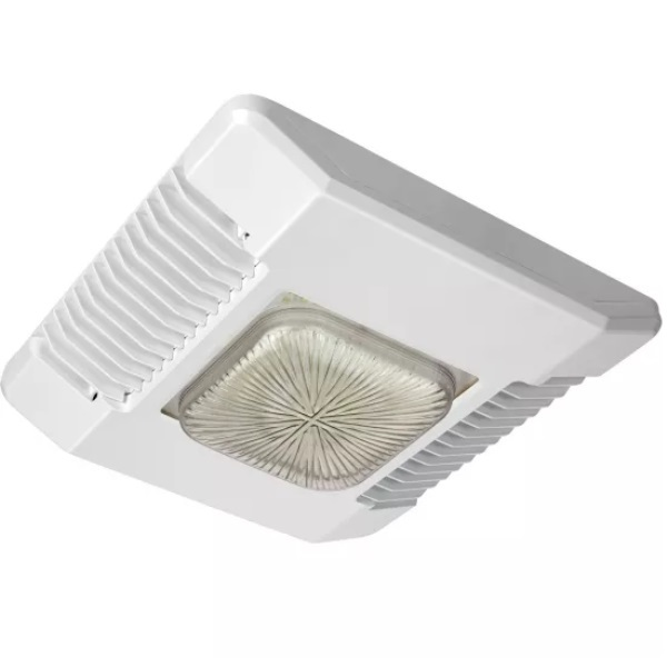 LED Canopy Light - 120 Watt - 400W MH Equal Image  sc 1 st  1000Bulbs.com & LED Canopy Light - 120W - Cree CPY250-A-DM-D-B-UL-WH