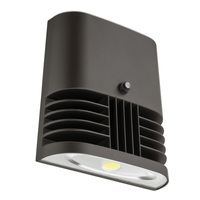 4000 Lumens - LED Wall Pack with Photocell - 37 Watt - 250W MH Equal - 5000 Kelvin - 120V - Lithonia OLWX1 LED 40W 50K 120 PE M4