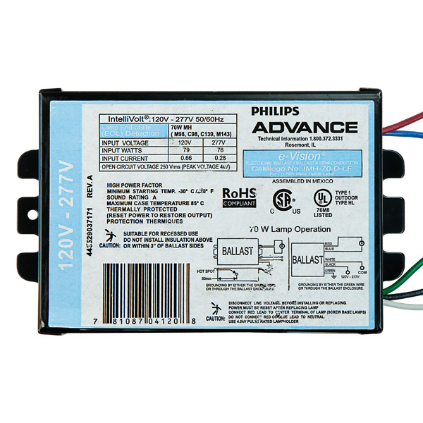 70 Watt Electronic Mh Ballast Advance Imh 70 D Lfm
