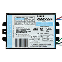 Advance IMH-70-D-LFM - 70 Watt - Electronic Metal Halide Ballast - ANSI M98, M139 or M143 - 120/277 Volt - Power Factor 90% - Max. Temp Rating 185 Deg. F - Side Leads With Mounting Feet
