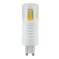 5 Watt - G9 Base LED - 3000 Kelvin - Halogen Color - Replaces 40 Watt Halogen - 120 Volt