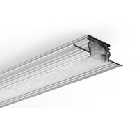 6.56 ft. Non-Anodized Aluminum TE-4 KPL Extrusion - For LED Tape Light and Strip Light - Klus 18019WNAL