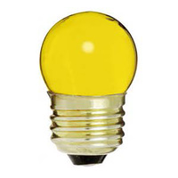7.5 Watt - S11 Light Bulb - Ceramic Yellow - Medium Brass Base - 120 Volt - Satco S4512