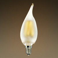 LED Chandelier Bulb - Vertical Filament - 2 Watt - 170 Lumens - 25 Watt Equal - Warm Tone - 2700 Kelvin - Frosted - Candelabra Base - Dimmable