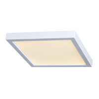 15 Watt - 8 in. LED Ultra Thin Square Ceiling Fixture - 3000 Kelvin - 120V