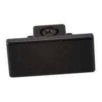 Nora NT-318B - Black - Dead End Cap - Single or Dual Circuit - Compatible with Halo Track