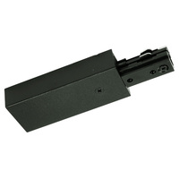 Black - Live End Feed - Left Hand Polarity - Dual Circuit - Compatible with Halo Track - Nora NT-2316B/L