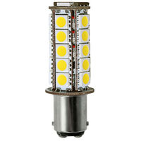 1142 - 4W - Double Contact BA15d - LED - 400 Lumens - 40W Halogen Equal - 2700 Kelvin - Anti RF Interference - 10-30 Volt DC Only