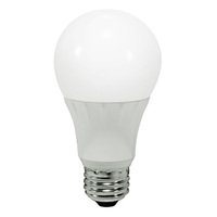 LED - A19 - 8 Watt - 60W Incandescent Equal - 800 Lumens - 3000 Kelvin Halogen White