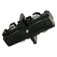Black - Straight Connector - Dual Circuit - Compatible with Halo Track - Nora NT-2310B