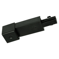 Black - Live End Conduit Connector - Right Hand Polarity - Dual Circuit - Compatible with Halo Track - Nora NT-2328B