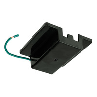 Black - Floating Canopy Feed - Single Circuit - Compatible with Halo Track - PLT FC BK