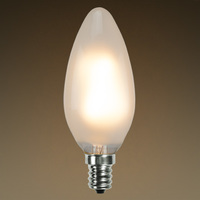 LED Chandelier Bulb - Z-Shape Filament - 2 Watt - 170 Lumens - 25 Watt Equal - Warm Tone - 2700 Kelvin - Frosted - Candelabra Base - Dimmable
