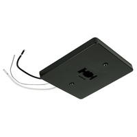 Nora NT-319B - Black - Mono Point Power Feed - Single Circuit - Compatible with Halo Track