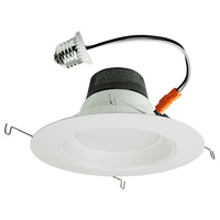 700 Lumens - 5-6 in. Retrofit LED Downlight - 10W - 65W Equal - 2700 Kelvin - Stepped Baffle Trim - Dimmable - 120V - Green Creative 97756