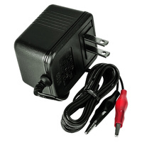 UPG D1733 - 12 Volt/500 mA - Single Stage - SLA Battery Charger - Alligator Clip Connectors