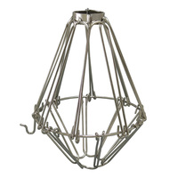 Metal Lamp Guard - Polished Nickel - Light Bulb Cage - PLT 37-0102-22