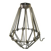 Light Bulb Cage, Open/Close Style, Antique Brass