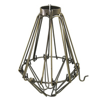 Light Bulb Cage - Open/Close Style - Antique Brass - Clamp Mount - PLT 37-0102-30