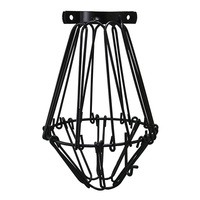 Light Bulb Cage - Open/Close Style - Black - Clamp Mount