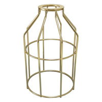 Metal Lamp Guard - Polished Brass - Light Bulb Cage - PLT 37-0108-10