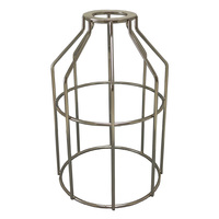 Metal Lamp Guard - Polished Nickel - Light Bulb Cage - PLT 37-0108-22