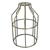 Light Bulb Cage - Open Style - Antique Brass - Washer Mount - PLT 37-0108-30